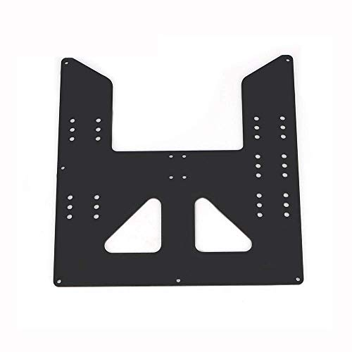 WEI-LUONG 3D Printer Accessories, Aluminum Y Carriage Hot Bed Support Plate for 3D Printer Printer Tools