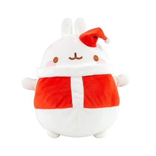 Molang - Plüsch Spielzeug in Weiß / Rot, Größe 25 cm