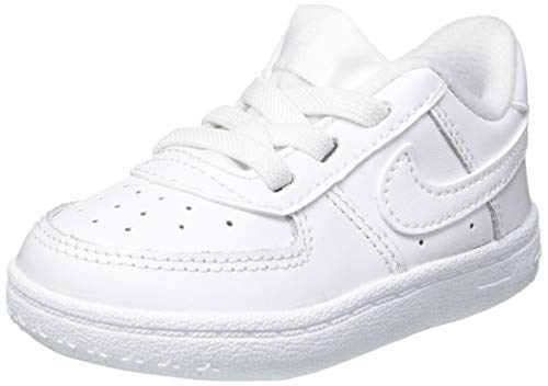 Nike Force 1 Crib (CB), Scarpe da Ginnastica Unisex-Bambini, Bianco/Bianco/Bianco, 18.5 EU