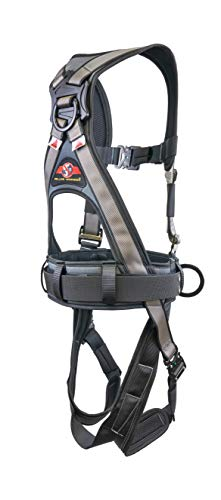 Super Anchor Safety 6151-GSM Deluxe Full Body Harness plus All-Pakka Tool Bag Combo, Medium, Silver
