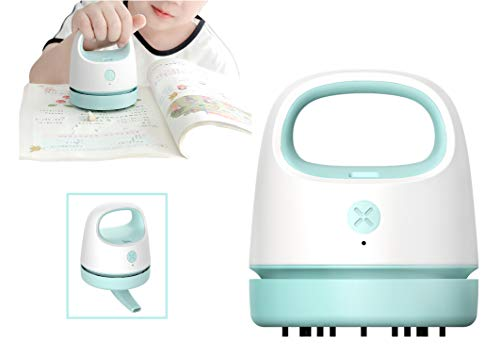 Aspirador de Sobremesa, Carga USB, Mini Colector de Polvo con Cepillo de Limpieza y Boquilla, Apto para Limpiar Migas, Residuos de Goma, Teclado, sofá