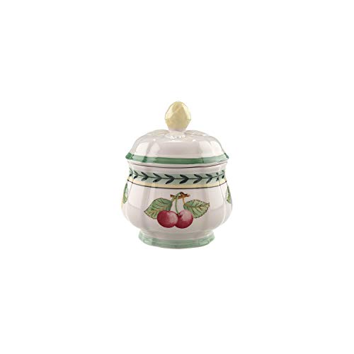 Villeroy & Boch French Garden Fleurence Covered Sugar, 6.75 oz, White/Multicolored