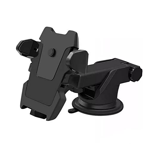 QAZWSXED LESANGBAIHUODIAN Soporte del Soporte del teléfono del Parabrisas del Conductor del Coche GPS Soportes de teléfono de 360Grados de rotación for automóvil for iPhone Samsung (Color : Black A)