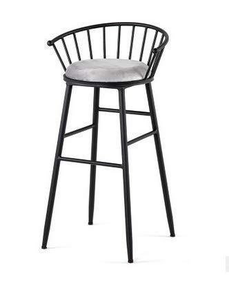 FTFTO Accessori per la casa Industria eolica Americana Sgabello Alto Bar Sgabello da Bar in Metallo sedie Moderne e minimaliste Ristorante caffè Tea Shop sedie da Pranzo Leggere