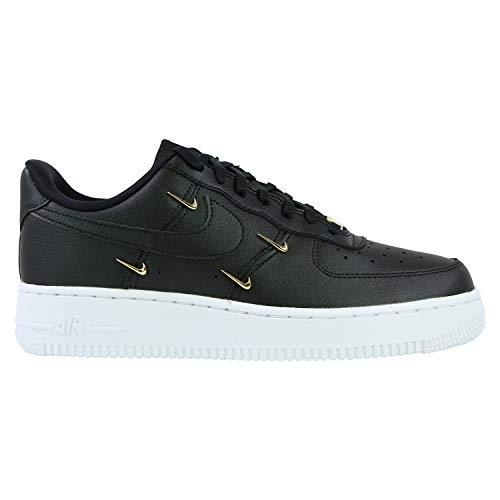 Nike Zapatillas para mujer Air Force 1 '07 LX, color negro, negro, 35.5 EU