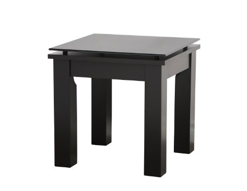 Plateau SL-TE 19 x 19 B BG Wood Accent Table, 19 by 19-Inch, Black Satin Paint Finish