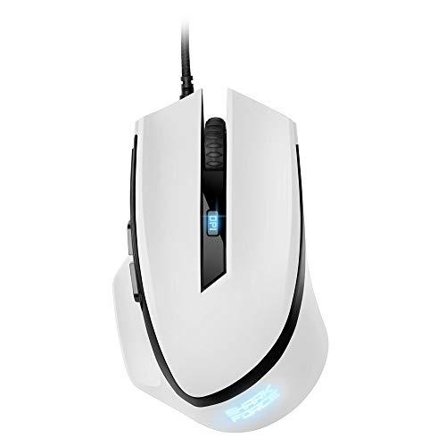 Sharkoon Shark Force II Ratón Gaming Blanco USB Gaming Mouse, 4044951030446
