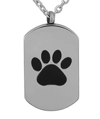 Hanessa Collar con colgante en forma de placa de identificación de perro con grabado personalizado...