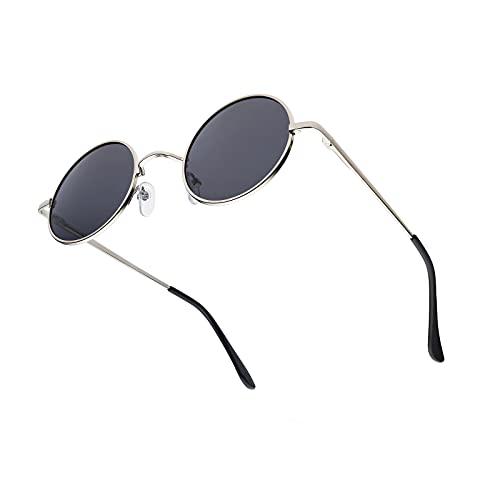 KITEOAGE Runde Herren Sonnenbrille Polarisierte Retro Vintage Sonnenbrillen UV400 Sonnenbrille Damen