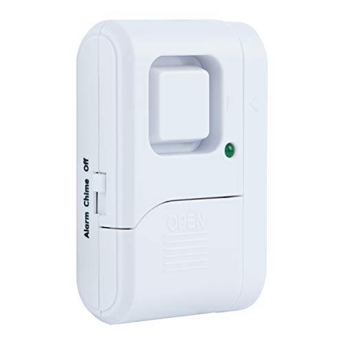 GE Personal Security Window/Door Alarm, DIY Home Protection, Burglar Alert, Magnetic Sensor, Off/Chime/Alarm, Easy Installation, Ideal for Home, Garage, Apartment, Dorm, RV and Office, 56789
