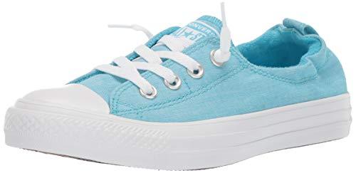 Converse Women's Chuck Taylor All Star Shoreline Slip On Sneaker Gnarly Blue White, 8 M US