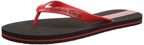 Calvin Klein underwear FLIP FLOP, Herren Zehentrenner, Rot (BLACK/CHINESE RED CL4), 41/42 (Herstellergröße: M)