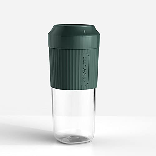 Pomety Portable juicer household fruit mixing cup wireless juicer juicer mini juicer cup (Color : Green)
