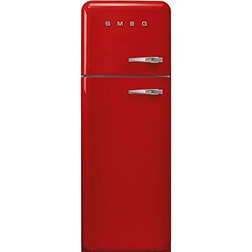 Smeg FAB30LRD3 Kühl-Gefrier-Kombination, freistehend, 294 l, A+++ – Kühl-Gefrier-Kombination (294 l, SN-T, 4 kg/24 h, A+++, neue Zone, Rot)