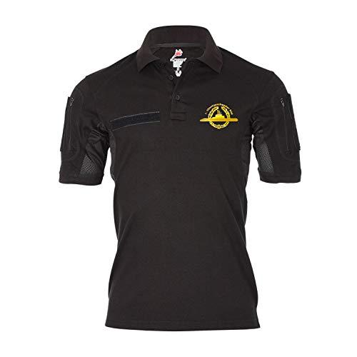 Tactical Poloshirt 1 Ubootgeschwader Kiel_U-Boot Abzeichen Gold Shirt #35474, Größe:4XL, Farbe:Schwarz