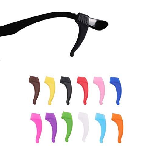 Beikal Gläser Ohrhaken 5 Paar, komfortable Silikon Anti-Rutsch-Halter für Gläser, für Sport Brillen Tempel Tipp, zufällige Farbe