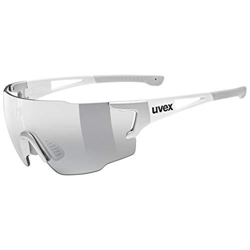 uvex Unisex– Erwachsene, sportstyle 804 v Sportbrille, silver white, one size