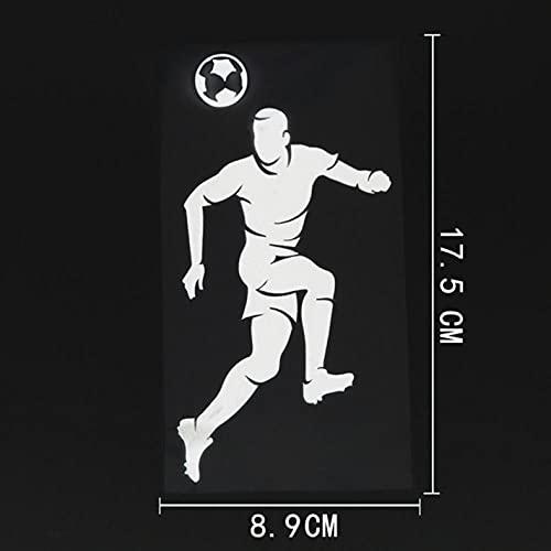 GSPOGTY Adesivi per Auto, 8,9 cm x 17,5 cm, Pallone da Calcio, Adesivo da Parete per bidoni, Frigorifero, Cucina, Adesivi Impermeabili per Interni/Esterni (3 Pezzi)