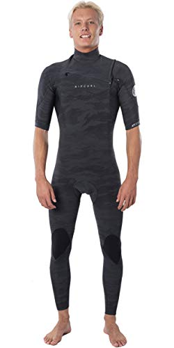 Rip Curl Mens Dawn Patrol 2mm wetsuit met korte Chest Zip - Camo - E5 neopreen - Chest zip - Intern sleutelvak