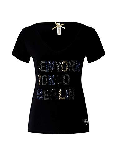 KEY LARGO Damen Shirt New York schwarz XS