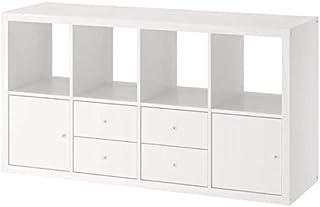 Ikea Kallax Shelf Unit with 4 Inserts White 30 3/8x57 7/8 592.783.07
