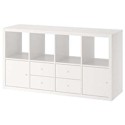 Ikea Kallax Shelf with 4 Inserts