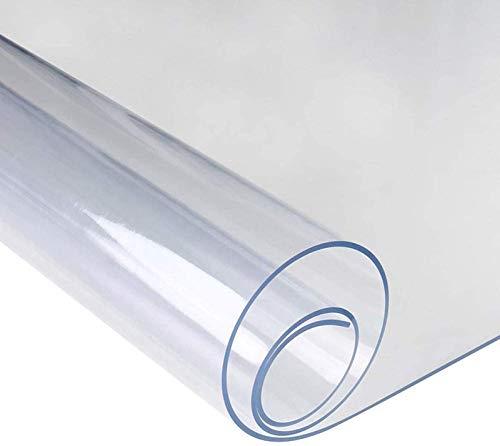 seveni Tappeto Protezione Pavimento PVC, 0.5mm Trasparente Antiscivolo Impermeabile Tappetini for Sedie da Ufficio, Sedia da Ufficio Tavolino da caffè Mobilia(95x160cm/37.4x62.99in)