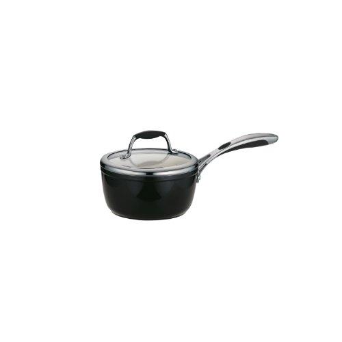 Tramontina 80110/024DS Gourmet Ceramica Deluxe Covered Sauce Pan, PFOA- PTFE- Lead and Cadmium-Free Ceramic Interior, 1.5-Quart, Metallic Black, Made in Italy