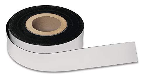 magnetoplan Magnetband, PVC, Weiß 50 mm x 30 m