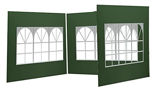 Enipate Paredes laterales para carpa, tela Oxford 210D plegable para tienda de...