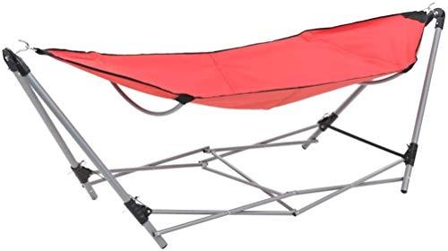 Hängematte Mit Gestell Aus Metall Single Im Beutel Waschbar Robust Für Garten Camping Freizeit