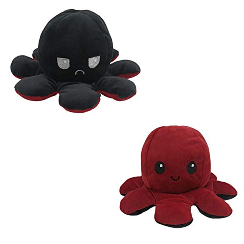 Kinderspielzeug Geschenk Plüschtiere niedlich kleine Octopus Toy doppelseitige Flip Doll Soft Cabrio