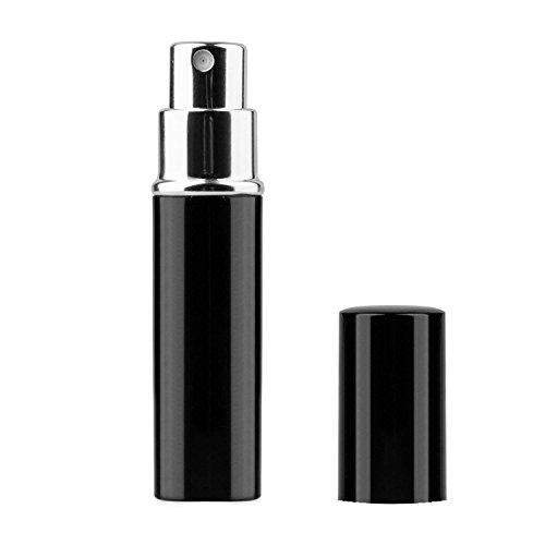 TRIXES Flacon vaporisateur de parfum de 5 ml pour le voyage après-rasage atomiseur spray bouteille noire