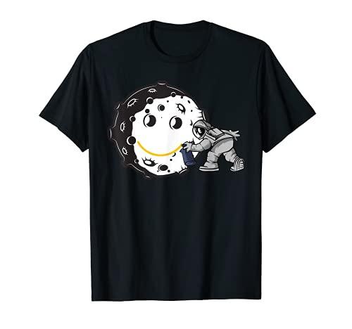 ディップス宇宙飛行士コスチュームスマイリームーングラフィティデー宇宙飛行士 smiley moon Astronaut Tシャツ