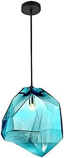 Lovedima Stone 1-Light Mini Colorful Glass Pendant Light Ceiling Lighting Fixture Lamp(Blue)
