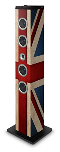 BigBen Sound Tower TW7 | Union Jack II | 40 Watt RMS | Rotes LED-Display | ...