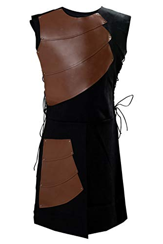 Pingstore Men's Medieval Sleeveless Waistcoats Costume Renaissance Victorian Waistcoats Vests