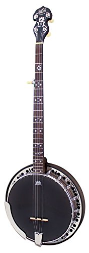 Barnes & Mullins bj400Rathbone 5-Saiten-Banjo mit REMO Kopf schwarz