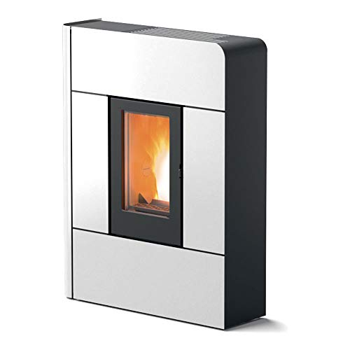 MCZ RAAM Comfort Air - Estufa de pellets (7,8 kW), color blanco