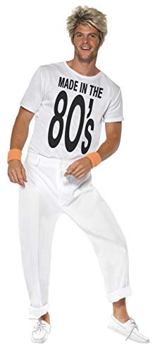 Men's Made in 80's Costume with Top and Trousers