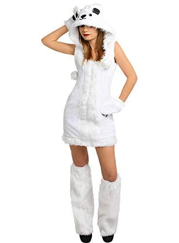 Funidelia | Disfraz de Oso Polar para Mujer Talla S ▶ Animales, Oso - Color: Blanco - Divertidos Disfraces y complementos para Carnaval y Halloween