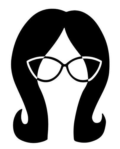 Bob's Burger Cartoon Linda Belcher Head Logo Vinyl Stickers Symbol 5.5' Decorative DIE Cut Decal for Cars Tablets LAPTOPS Skateboard - White Color