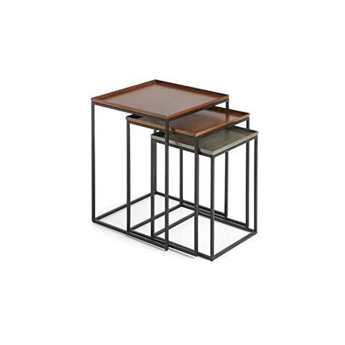 LAFORMA Set da 3 Tavolini Vertigo - in Metallo