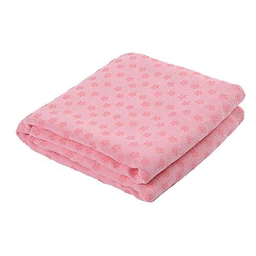 Liadance Hot Yoga Mat De Toallas Absorbentes del Sudor Antideslizante para Hot Yoga Toalla Manta con Grip Pink Dots