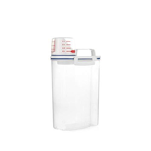 2L 1Pcs Plastic Cereal Dispenser Storage Box Kitchen Food Grain Rice Container
