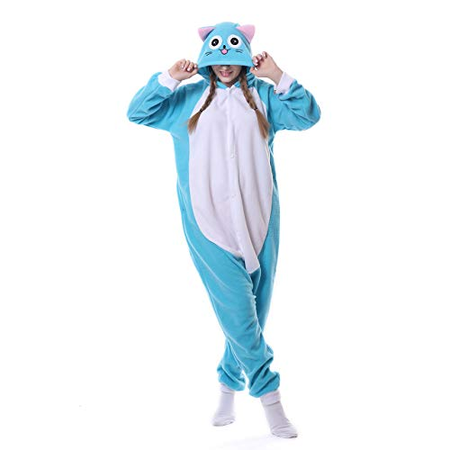 Pyjamas Mädchen Bekleidung Animal Erwachsene Unisex Schlafanzüge Karneval Onesies Glückliche Habib Katze Cosplay Jumpsuits Anime Carnival Spielanzug Kostüme Weihnachten Halloween Nachtwäsche