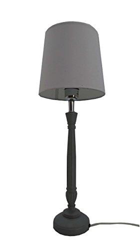 IMPRESSIONEN living 8340269 Tischleuchte grau klassisch Lampe