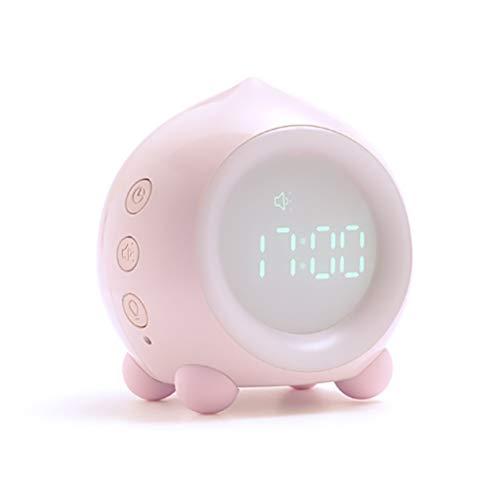 Ayaaa Despertador con luz nocturna para niños, reloj digital LED, con control por voz, luz, hora, temperatura, pantalla digital