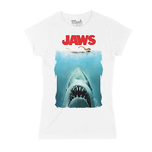 MUSH T-Shirt Jaws Lo SQUALO Poster - Film by Dress Your Style - Donna-S-Bianca