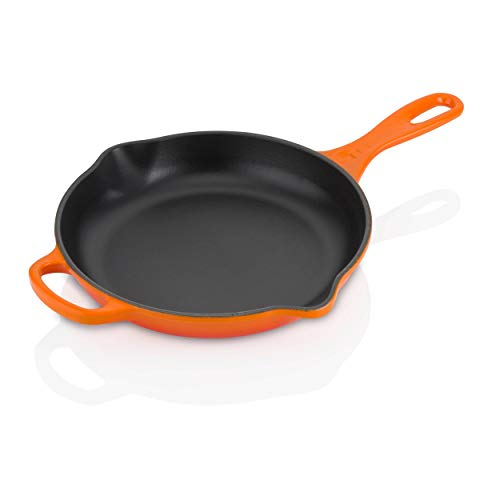 "Le Creuset Enameled Cast Iron Signature Iron Handle Skillet, 9"" (1-3/8 qt.), Flame"